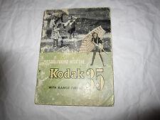 Vintage Kodak 35 With Range Finder Instruction Manual