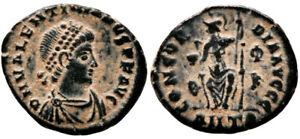 VALENTINIAN II (378-383 AD) Ae3 Follis. Antioch #VR 8241