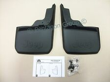 New Genuine Jeep Wrangler 2D 4D Premium Rear Splashguards Mudflaps 82210232