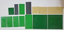 Mixed lot 15 peices lego base plates 5x5, 5x2, 4x2, 2.5x2.5 ect