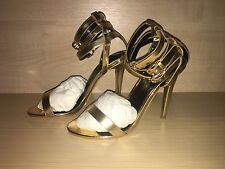 BNIB Carvela Gold Triple Ankle Straps Sandals 4 37