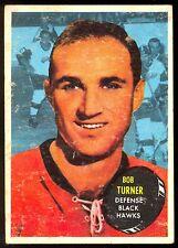 1961-62 TOPPS HOCKEY #41 BOB TURNER EX+ CHICAGO BLACK HAWKS CARD