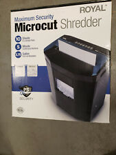Royal 1005mc 10 Sheet Max Security Microcut Shredder 5 Minute Runtime Open Box