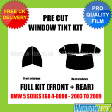 BMW 5 SERIES E60 4-DOOR 2003-2009 FULL PRE CUT WINDOW TINT KIT