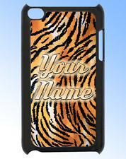 IPOD TOUCH 4 TIGER PRINT PERSONALISED  REAR COVER / CASE -GREAT GIFT & NAMED TOO