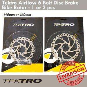 Tektro Airflow 6 Trous Disques de freinage Rotor 140mm ou 160mm Road CX MTB Bike