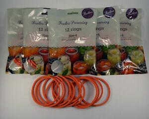 Fowlers Vacola Preserving Rings Size 4, BULK 5 packs of 12 ring NEW