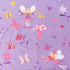 Cotton Furnishing Sewing Fabric Fairy Butterflies Purple Pink