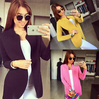 Women Slim Fit Sweater Long Sleeve Knitted Cardigan Outwear Jacket Coats Casual
