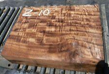10Z10  FIGURED Q-SAWN BASTOGNE WALNUT SLAB TURNING WOOD  2 3/4 X 8 1/4 X 11