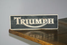 TRIUMPH Vintage Shabby Chic Wooden Sign Old Look Cars Retro Motor bike