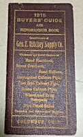 Antique 1915 Drain Pipe & Road Machinery Advertising Booklet Geo Ritchey