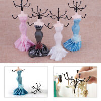 "6.6"" Lady Mannequin Jewelry Tree Stand Earring Holder Bracelet Necklace Display"