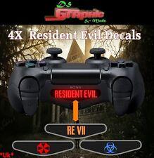 Resident Evil 7 PS4 Controller Light Bar Decal Vinyl Sticker 4x