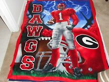LOT OF 4 Georgia Dawgs Fleece Panel, all in one box!!!  Saves shipping costs!!!