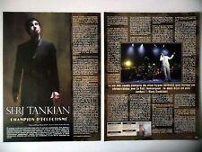 COUPURE DE PRESSE-CLIPPING : SERJ TANKIAN [2pages]09/2010 Interview,Imperfect...