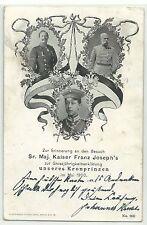 Kaiser Franz Joseph besucht Kronprinzen Mai 1900