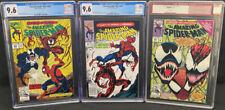 Amazing Spider-Man #361 newsstand, #362 CGC 9.6 & #363 9.8 (Marvel 4/92) Carnage