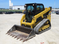 2016 Caterpillar 249D Skid Steer Tracked Loader A/C Cab Rear Camera Aux Hyd