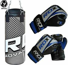 RDX Kids 2FT Unfilled Punch Bag Set Boxing Gloves,Kick Ball Junior Children AU