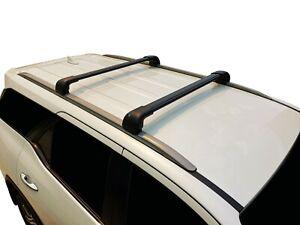 Alloy Roof Rack Cross Bar for Hyundai Santa Fe DM 2013-18 With Flush Rail Black