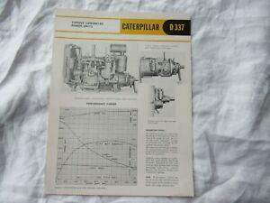 CAT Caterpillar D337 engine brochure