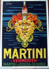 Original Italian Martini Vermouth Vintage Ad Art Poster by Ian Marco
