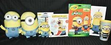 Minions Plush Dolls, Coloring Book, Paperback Book, Stickers, Plastic Tumblers