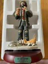 Flambro Emmett Kelly Jr.No Use Crying 9802 in Box Limited Edition 2767 of 7500