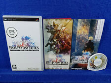 psp FINAL FANTASY TACTICS The War of The Lions Game +Art Card PAL Version