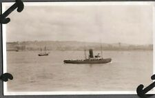 Vintage Photograph 1930'S Bay/Sailboats/Boats/Ferry /Tug Quebec Canada Old Photo