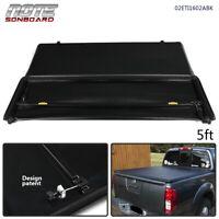 For 2005-2019 Nissan Frontier Tri-Fold Tonneau Cover Kit 5Ft Short Bed Black