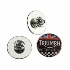 TRIUMPH MOTORCYCLES UNION JACK  METAL PIN BADGE WITH 25mm LOGO