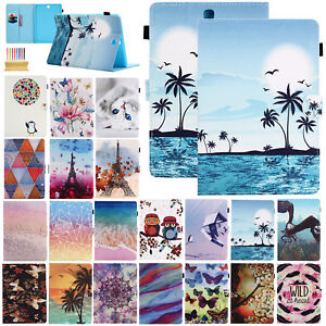 Folio Stand Smart Leather Cover Case For Various Samsung Galaxy Tab A E Tablet