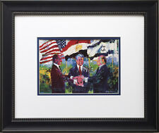 LeRoy Neiman SADAT-CARTER-BEGIN Egyptian-Israeli Peace Treaty FRAMED WHITE HOUSE