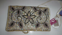 Beautiful Wire Work & Sequins Jewellery Roll Wrap Trade Craft