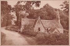 G1591 France - Environ du Conquet - La chapelle de Trébahu - 1934 vintage print
