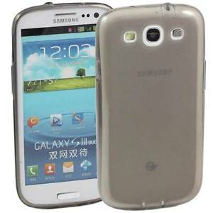 5 x GREY SAMSUNG GALAXY S3 SOFT GEL TPU SILICONE RUBBER CASE: FROSTED BACK M53