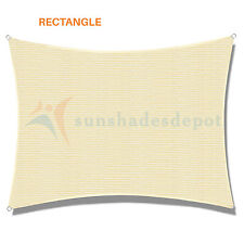 Sun Shade Sail Permeable Rectangle Square Outdoor Patio Deck Pool Canopy UV Top