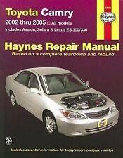 Toyota Camry and Lexus ES300/330 Automotive Repair Manual - Haynes
