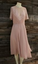 Asos Dress w Lacy Top & Pleated Skirt Peachy Pink Size 6 Nwt