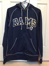 Los Angeles Rams Antigua Full Zip Hoodie Sweatshirt Jacket Blue Men Medium New
