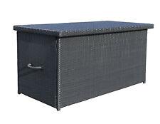 Rattan Kissenbox XXL Auflagenbox  Gartenbox Truhe Lounge - Schwarz NEU & OVP