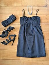 Sportsgirl Black Dress Races Cocktail Festival Strapless Size 8  Clubbing Party