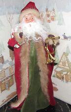 Byers Choice Caroler Santa Present and Brass Horn 2015 *