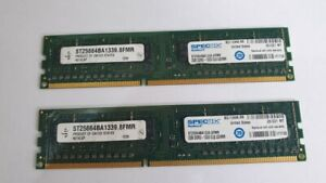 SPECTEK 2x 2GB = 4GB RAM MEMORY PC3 DDR3 ST25664BA 1339.8FMR 1333 CL9 UDIMM USA