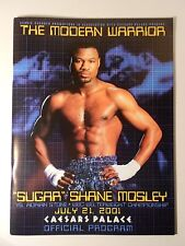 SHANE MOSLEY vs. ADRIAN STONE Official On-Site Boxing Program 07/21/2001 NM