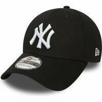 New York Yankees Hat New Era 39Thirty 3930 Flex Fit M/L Black MLB Baseball Cap
