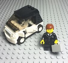 Lego New City Black / White Smart Car With License And Tuxedo Suit Mini Figure