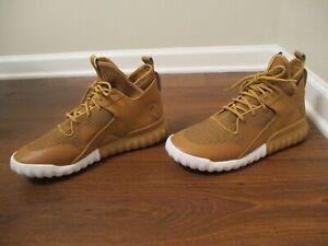 Lightly Used Worn Size 12 Adidas Tubular X Shoes Wheat, Mesa, Gum s75513
